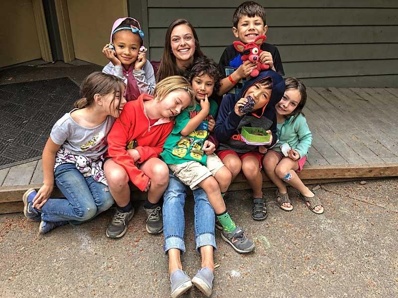 Kids and Staff